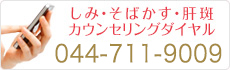 しみ・そばかす・肝斑カウンセリングダイヤル 044-411-3661